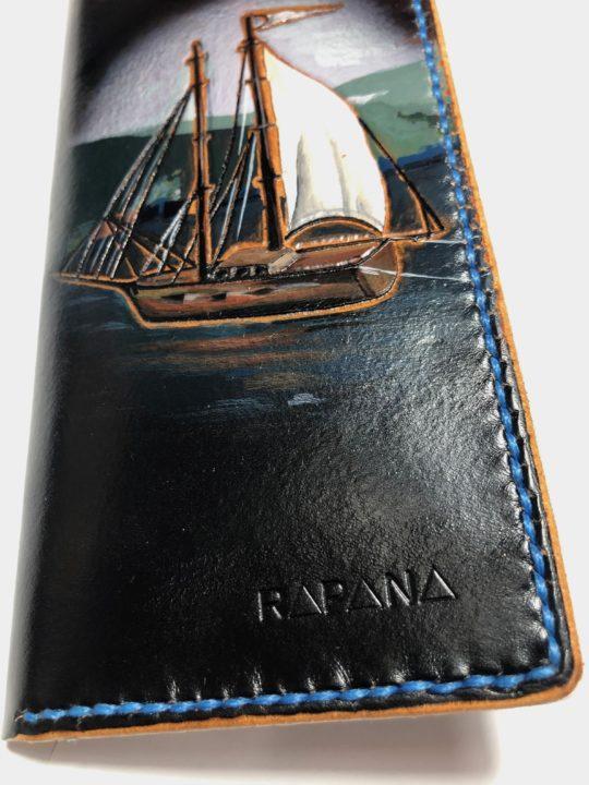 Portofel piele dama Boat Rapana