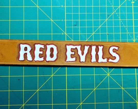 Curea piele RED EVILS Rapana