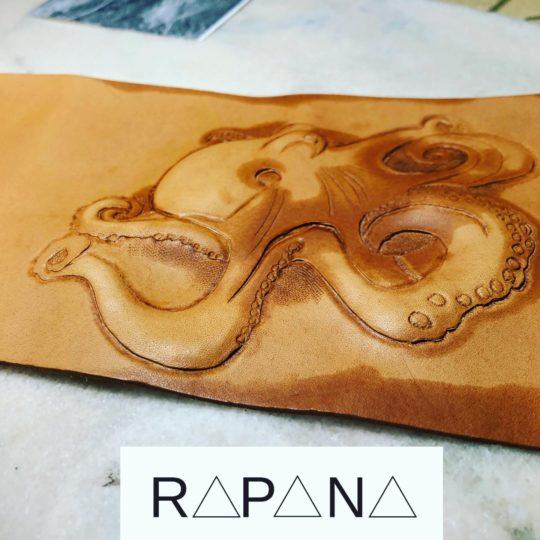 Portofel piele Octopus Rapana